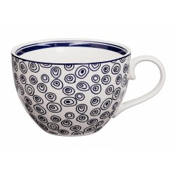 Le Bleu de Nîmes – Tasse à thé – avec anse – 310ml – porcelaine – TOKYO DESIGN STUDIO