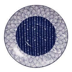 Le Bleu de Nîmes – Sous-tasse cappuccino – 165mm – porcelaine – TOKYO DESIGN STUDIO