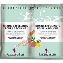 Grains exfoliants tonic vivifiant – 2 doses – bio, slow cosmétique – SECRETS DES FÉES