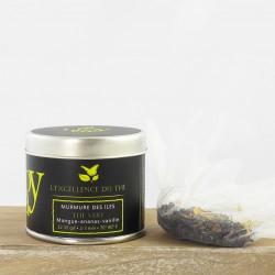 Murmure des îles – Thé vert – mangue, ananas, vanille – boîte métal – 40g – bio – LIOY TEA