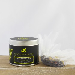 Pause gourmande – Thé noir – crumble, caramel – boîte métal – 40g – bio – LIOY TEA