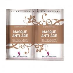 Masque anti-âge – restructurant – cacao – 2 doses – bio, slow cosmétique – SECRETS DES FÉES