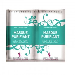 Masque purifiant – éclat du teint – algues – 2 doses – bio, slow cosmétique – SECRETS DES FÉES