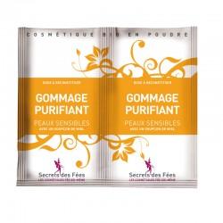 Gommage purifiant – peaux sensibles – miel – 2 doses – bio, slow cosmétique – SECRETS DES FÉES