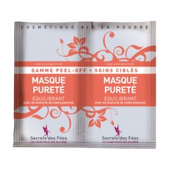 Masque pureté – équilibrant – pamplemousse – gamme peel-off, soins ciblés – 2 doses – bio – SECRETS DES FÉES
