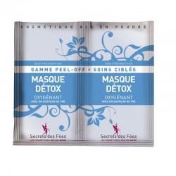 Masque detox – oxygénant– thé – gamme peel-off, soins ciblés – 2 doses – bio, slow cosmétique – SECRETS DES FÉES