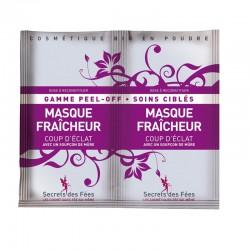 Masque fraîcheur – coup d'éclat – mûre – gamme peel-off, soins ciblés – 2 doses – bio, slow cosmétique – SECRETS DES FÉES