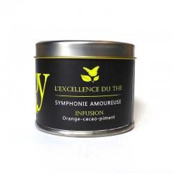 Symphonie amoureuse – Infusion – orange, cacao, piment – boîte métal – 40g – bio – LIOY TEA