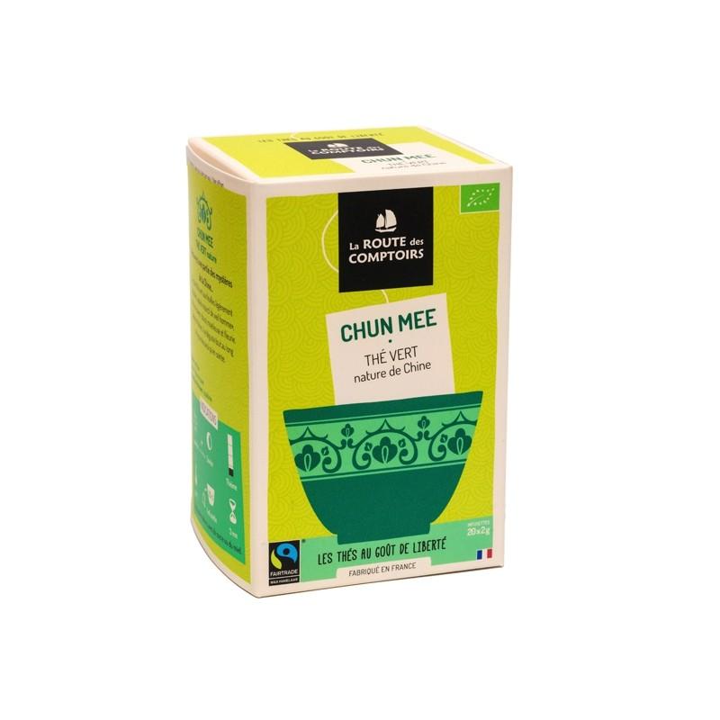 Thé vert bio Chun Mee 20 infusettes