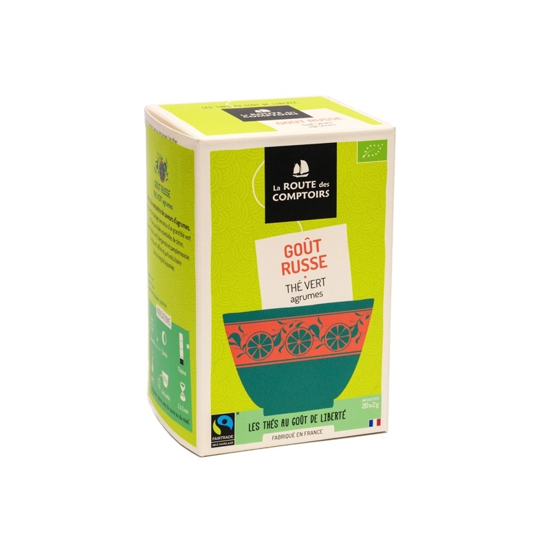 Thé vert bio Goût Russe 20 infusettes