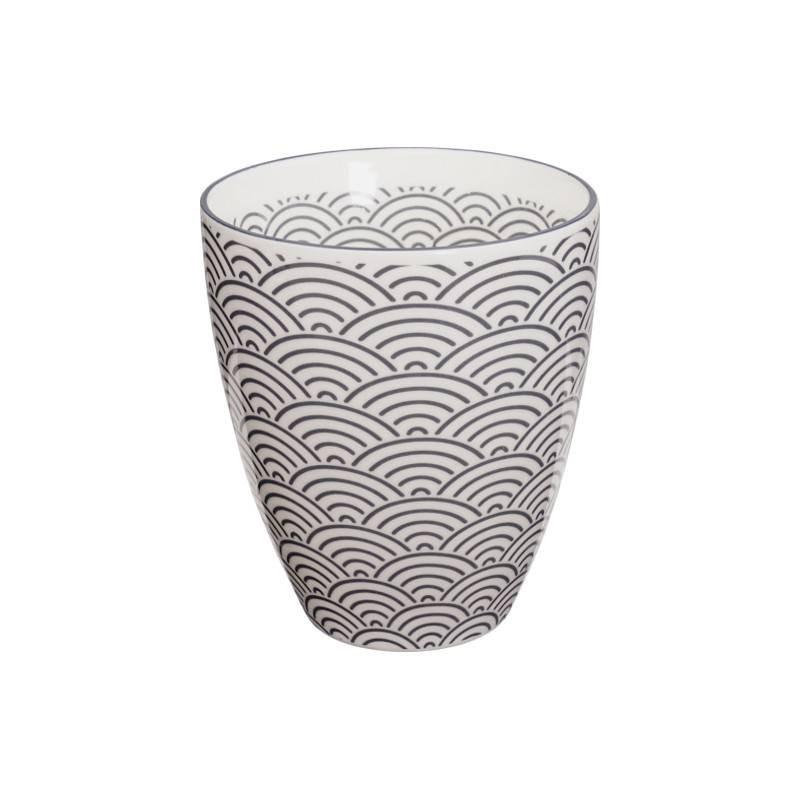 Nippon Grey – Mug à thé – sans anse – 300ml – porcelaine – TOKYO DESIGN STUDIO