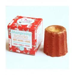 Shampoing solide – orange, cannelle, badiane – 55g – naturel, vegan, slow cosmétique, zéro déchet – sans sulfate – LAMAZUNA