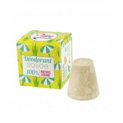 Déodorant solide – palmarosa, bicarbonate – 30g – naturel, vegan, slow cosmétique, zéro déchet – sans aluminium – LAMAZUNA