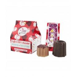 Coffret 100% chocolat : beurre de cacao chocolat + shampoing chocolat – vegan, zéro déchet – LAMAZUNA
