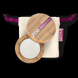 Fard à paupières nacré – 101 BLANC – boîtier bambou rechargeable – 3g – bio, vegan – ZAO