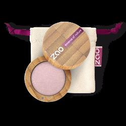 Fard à paupières nacré – 102 BEIGE ROSE – boîtier bambou rechargeable – 3g – bio, vegan – ZAO