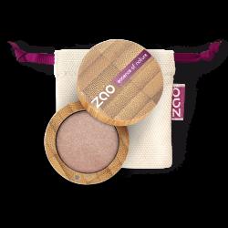 Fard à paupières nacré – 105 SABLE DORÉ – boîtier bambou rechargeable – 3g – bio, vegan – ZAO