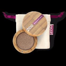 Fard à paupières nacré – 106 BRONZE – boîtier bambou rechargeable – 3g – bio, vegan – ZAO