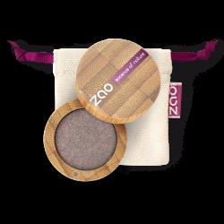 Fard à paupières nacré – 107 BRUN GRIS – boîtier bambou rechargeable – 3g – bio, vegan – ZAO