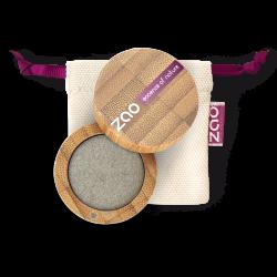 Fard à paupières nacré – 108 GRIS VERT – boîtier bambou rechargeable – 3g – bio, vegan – ZAO