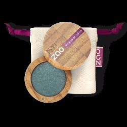 Fard à paupières nacré – 109 TURQUOISE – boîtier bambou rechargeable – 3g – bio, vegan – ZAO