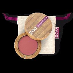 Fard à paupières nacré – 111 ROSE PÊCHE – boîtier bambou rechargeable – 3g – bio, vegan – ZAO