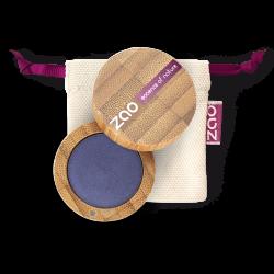 Fard à paupières nacré – 112 BLEU AZUR – boîtier bambou rechargeable – 3g – bio, vegan – ZAO
