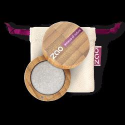 Fard à paupières nacré – 114 ARGENT – boîtier bambou rechargeable – 3g – bio, vegan – ZAO