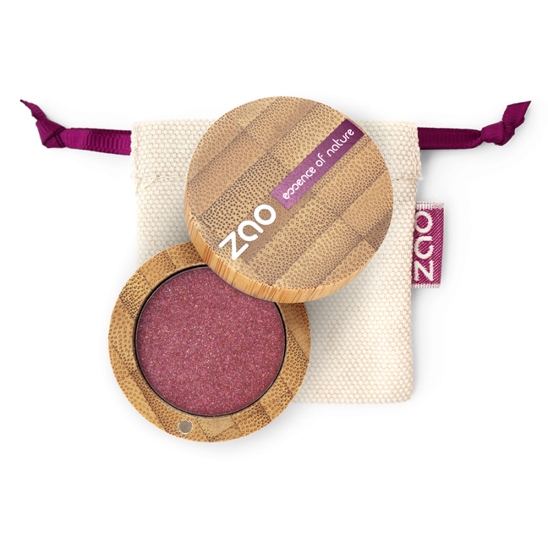 Fard à paupières nacré – 115 RUBIS – boîtier bambou rechargeable – 3g – bio, vegan – ZAO