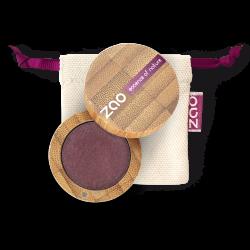 Fard à paupières nacré – 118 PRUNE – boîtier bambou rechargeable – 3g – bio, vegan – ZAO
