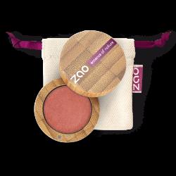 Fard à paupières nacré – 119 ROSE CORAIL – boîtier bambou rechargeable – 3g – bio, vegan – ZAO