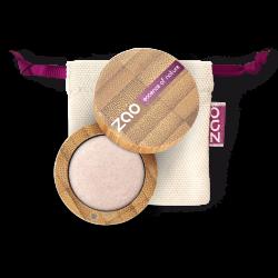 Fard à paupières nacré – 121 IVOIRE LUMIÈRE – boîtier bambou rechargeable – 3g – bio, vegan – ZAO