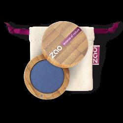 Fard à paupières nacré – 120 BLEU ROY – boîtier bambou rechargeable – 3g – bio, vegan – ZAO