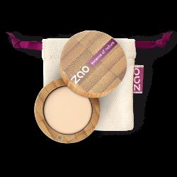 Fard à paupières mat – 201 IVOIRE – boîtier bambou rechargeable – 3g – bio, vegan – ZAO