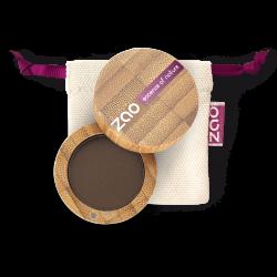 Fard à paupières mat – 203 BRUN FONCÉ – boîtier bambou rechargeable – 3g – bio, vegan – ZAO