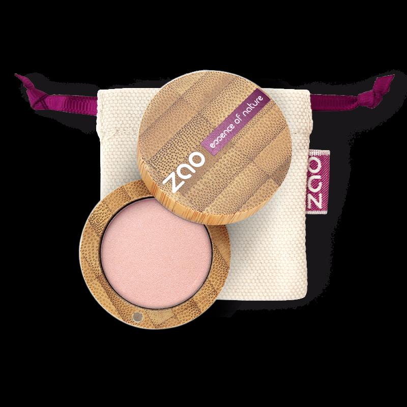 Fard à paupières mat – 204 VIEUX ROSE DORÉ – boîtier bambou rechargeable – 3g – bio, vegan – ZAO