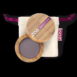 Fard à paupières mat – 205 VIOLET SOMBRE – boîtier bambou rechargeable – 3g – bio, vegan – ZAO