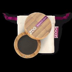 Fard à paupières mat – 206 NOIR – boîtier bambou rechargeable – 3g – bio, vegan – ZAO