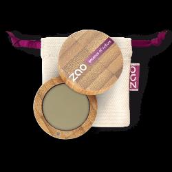 Fard à paupières mat – 207 VERT OLIVE – boîtier bambou rechargeable – 3g – bio, vegan – ZAO