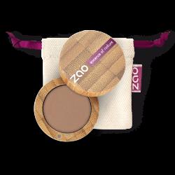 Fard à paupières mat – 208 NUDE – boîtier bambou rechargeable – 3g – bio, vegan – ZAO