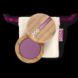 Fard à paupières mat – 215 VIOLET POURPRE – boîtier bambou rechargeable – 3g – bio, vegan – ZAO