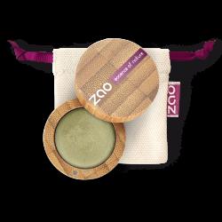 Fard à paupières crème – 252 BAMBOU – boîtier bambou rechargeable – 3g – bio, vegan – ZAO