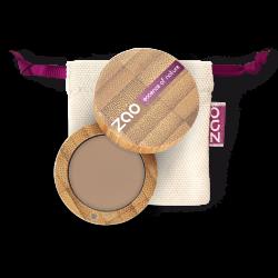 Poudre à sourcils – 260 BLOND – boîtier bambou rechargeable – 3g – bio, vegan – ZAO