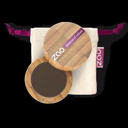 Poudre à sourcils – 262 BRUN – boîtier bambou rechargeable – 3g – bio, vegan – ZAO