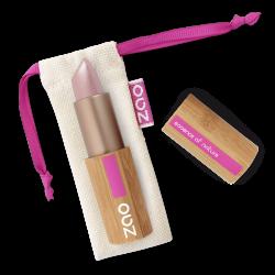 Rouge à lèvres nacré – 401 AMÉTHYSTE – boîtier bambou rechargeable – 3,5g – bio, vegan – ZAO