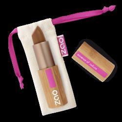 Rouge à lèvres nacré – 405 BRUN DORÉ – boîtier bambou rechargeable – 3,5g – bio, vegan – ZAO