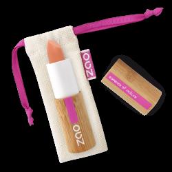 Rouge à lèvres soft touch – 432 PÊCHE – boîtier bambou rechargeable – 3,5g – bio, vegan – ZAO