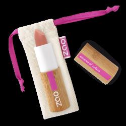 Rouge à lèvres soft touch – 433 NUDE SENSATION – boîtier bambou rechargeable – 3,5g – bio, vegan – ZAO