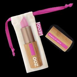 Rouge à lèvres mat – 461 ROSE BONBON – boîtier bambou rechargeable – 3,5g – bio, vegan – ZAO