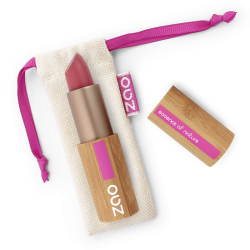 Rouge à lèvres mat – 469 ROSE NUDE – boîtier bambou rechargeable – 3,5g – bio, vegan – ZAO